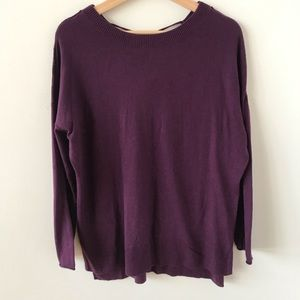 Caslon oversized purple sweater